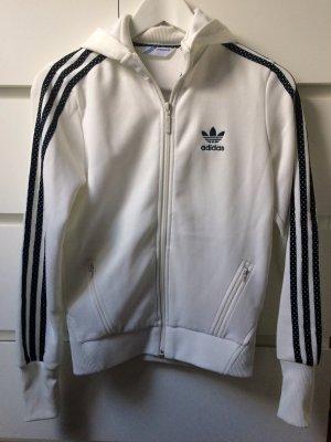 Adidas Jacke in weiß/schwarz