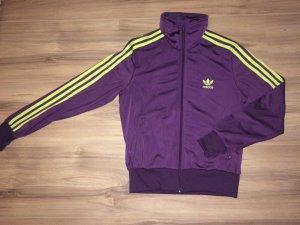 Adidas Jacke lila / gelb - Größe 40