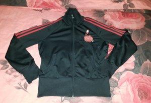 Adidas Jacke mit roter Rose super schön