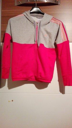 Adidas jacke pink und grau mit Kapuze