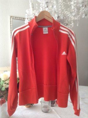 Adidas-Jacke / rot-weiß / Gr. 34 XS