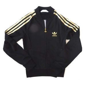 Adidas Jacke schwarz gold Gr. 36 S