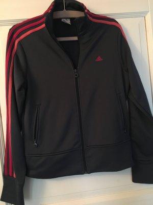 Adidas Jacke Sportjacke blau pink rosa Gr. 40