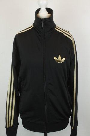 Adidas Jacke Sweatjacke Gr. XS schwarz gold