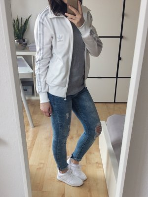Adidas Jacke Training weiß silber
