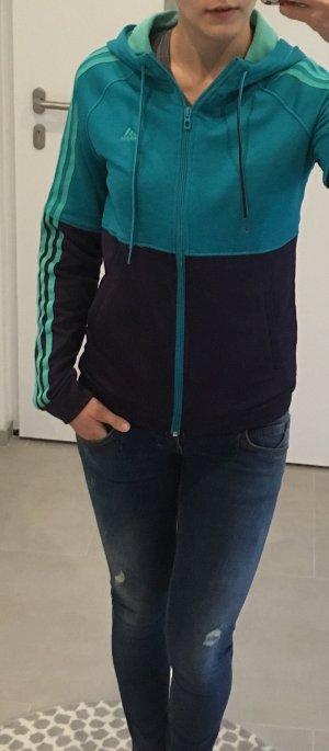 Adidas Jacke Türkis blau S m xs Sport 34 36 Sweatshirt