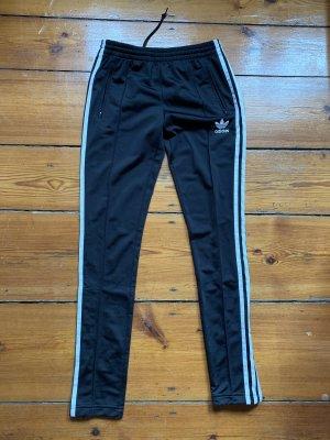 Adidas Pantalón de pinza alto negro-blanco Poliéster