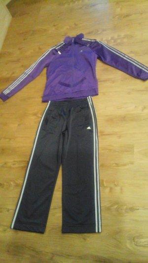 Adidas Chándal gris-lila