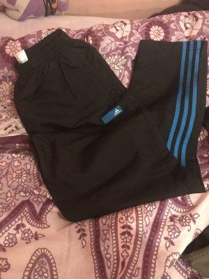 Adidas Pantalone da ginnastica nero-blu acciaio
