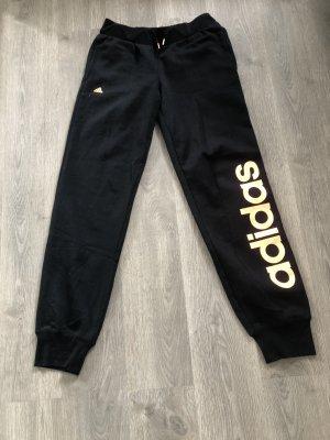 Adidas Pantalón térmico negro-naranja neón