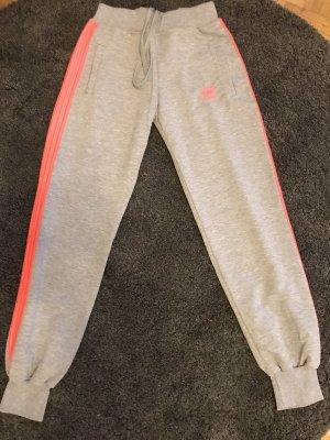 Adidas Pantalón deportivo gris-rosa neón