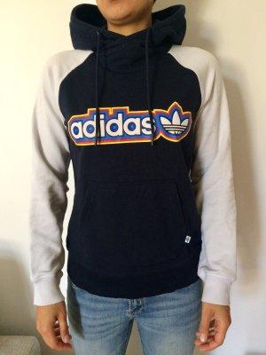 Adidas Jersey con capucha azul oscuro-blanco puro