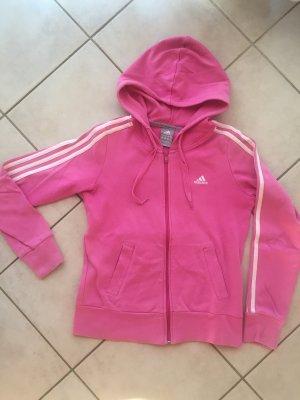 Adidas Giacca con cappuccio rosa