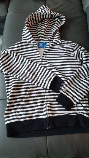 Adidas Veste à capuche blanc-noir
