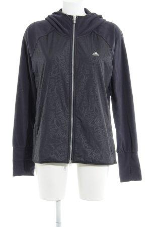 Adidas Veste à capuche gris anthracite motif abstrait style athlétique