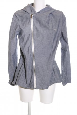 Adidas Kapuzenjacke blau meliert Casual-Look