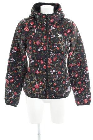 Adidas Veste à capuche motif de fleur style décontracté
