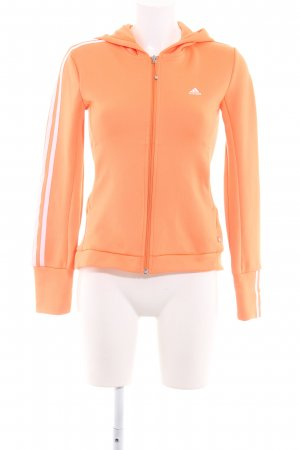 Adidas Hoody neon orange striped pattern casual look
