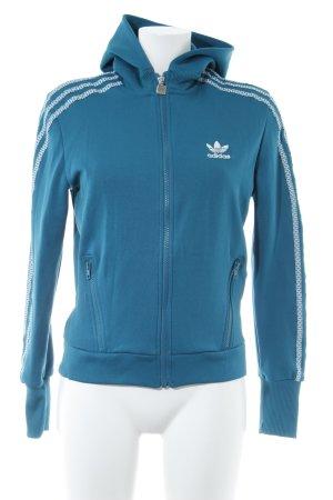 Adidas Veste à capuche blanc-bleu cadet style athlétique