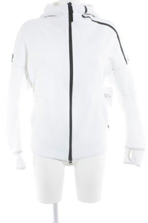 Adidas Kapuzenjacke weiß-schwarz Casual-Look