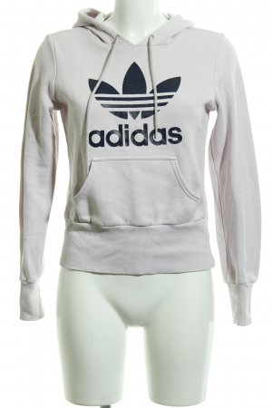 Adidas Hooded Sweater dusky pink-dark blue themed print casual look
