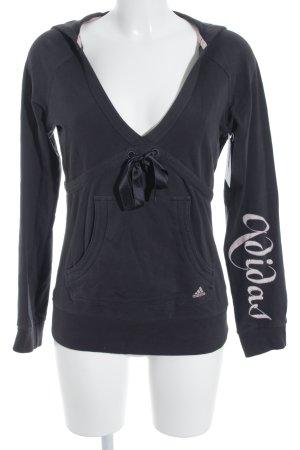 Adidas Kapuzenpullover dunkelgrau sportlicher Stil