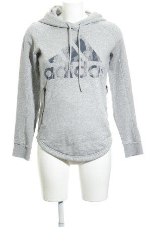 Adidas Maglione con cappuccio grigio chiaro puntinato stile casual