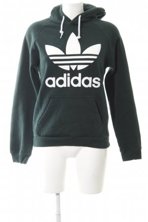 Adidas Hooded Sweater forest green athletic style