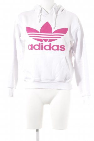 Adidas Kapuzenpullover weiß-pink Casual-Look