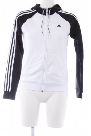 Adidas Kapuzenpullover weiß-schwarz sportlicher Stil