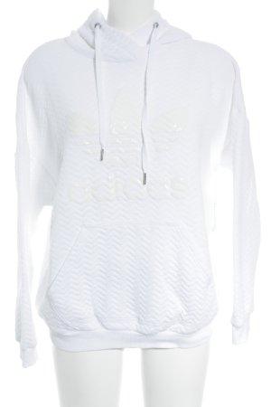 Adidas Kapuzenpullover weiß sportlicher Stil