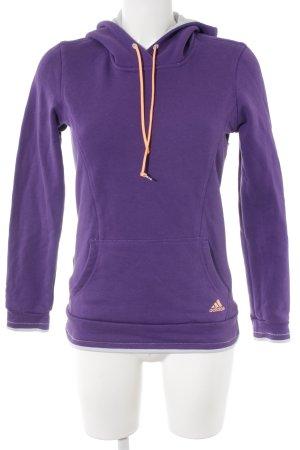 Adidas Kapuzensweatshirt dunkelviolett-apricot sportlicher Stil
