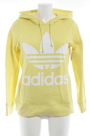 Adidas Kapuzensweatshirt gelb Motivdruck Casual-Look