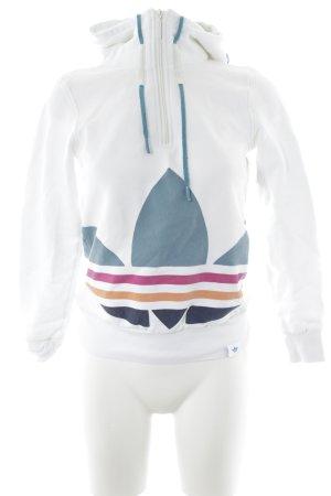 Adidas Kapuzensweatshirt grafisches Muster schlichter Stil