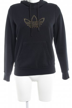 Adidas Kapuzensweatshirt schwarz Punk-Look