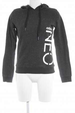Adidas Kapuzensweatshirt schwarz-weiß meliert Casual-Look