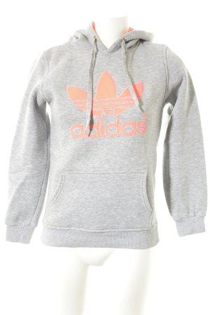 Adidas Felpa con cappuccio argento-fucsia neon motivo grafico stile casual
