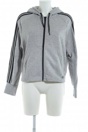 Adidas Hooded Vest light grey flecked casual look