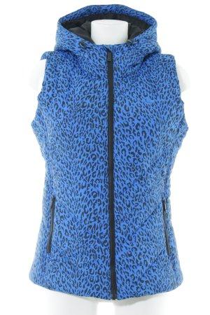 Adidas Capuchon vest neon blauw-zwart luipaardprint casual uitstraling