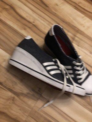 Adidas High Top Sneaker white-steel blue