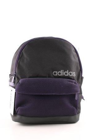 Adidas Mochila de guardería negro-violeta oscuro estampado en partes