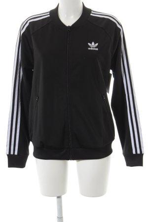 Adidas Kurzjacke schwarz-weiß sportlicher Stil
