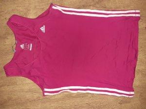 Adidas Sportshirt wit-magenta