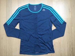 Adidas Laufshirt, Sport-Shirt blau-türkis, für Damen, Gr. 34-36