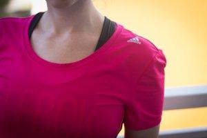 Adidas Laufshirt Training T-shirt Pink climacool Sport in Gr. S XS wie neu