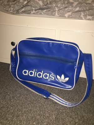 Adidas Sporttas neon blauw-blauw