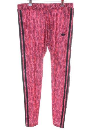 Adidas Leggings rosa-nero stampa integrale stile casual