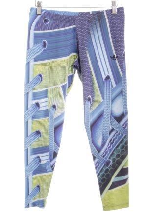Adidas Leggings azul estampado con diseño abstracto estilo deportivo