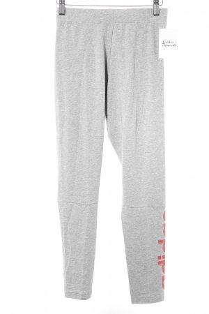 Adidas Leggings light grey-bright red printed lettering athletic style