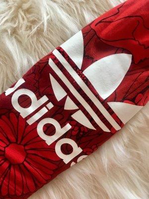 Adidas Leggings Rot mit Blumenmuster
